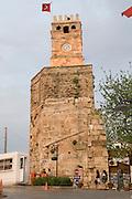 Turkey, Antalya, The old city The Roman era clock tower