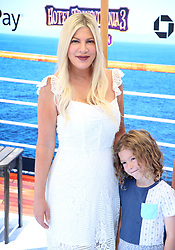 July 1, 2018 - Los Angeles, California, USA - 6/30/18.Tori Spelling at the premiere of ''Hotel Transylvania 3: Summer Vacation'' held at the Westwood Village Theatre in Los Angeles, CA. (Credit Image: © Starmax/Newscom via ZUMA Press)