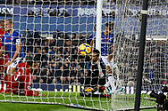 Dominic Calvert-Lewin of Everton ( far right) scores his teams 2nd goal to make it 2-2. Premier league match, Everton vs Watford at Goodison Park in Liverpool, Merseyside on Sunday 5th November 2017.<br /> pic by Chris Stading, Andrew Orchard sports photography.
