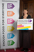 Caroline Lucas MP supporting the Enough Food for Everyone?IF campaign. .MP's and Peers attended the parliamentary launch of the IF campaign in the State Rooms of Speakers House, Palace of Westminster. London, UK.