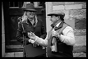 PHILLIPA HOLLAND; BRIAN HENTON, The Dianas of The Chase Cup, ngarsby Old Hall, Sunday 29th November 2015. By kind permission of  Formula 1 legend Brian Henton