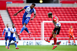 Jonah Ayunga of Bristol Rovers beats Bailey Wright of Sunderland to a header - Mandatory by-line: Robbie Stephenson/JMP - 12/09/2020 - FOOTBALL - Stadium of Light - Sunderland, England - Sunderland v Bristol Rovers - Sky Bet League One