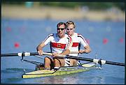 Sydney. AUSTRALIA. 2000 Summer Olympic Regatta, Penrith. NSW.  <br /> <br /> GER M2- Bow, SENS, Robert and KIRCHHOFF, Detlef<br /> <br /> <br /> [Mandatory Credit Peter SPURRIER/ Intersport Images] Sydney International Regatta Centre (SIRC) 2000 Olympic Rowing Regatta00085138.tif