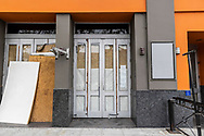 Exterior of Rage Nightclub in West Hollywood. The 37 year old club is now closed due to ability to sign a new lease with the landlord. The club shut down last year due to pandemic protocols and was unable to generate revenue for a new lease.<br /> The legendary Rage was the flagship club in West Hollywood serving the gay community.
