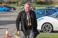 AFC Wimbledon manager Wally Downes arriving during the EFL Sky Bet League 1 match between AFC Wimbledon and Doncaster Rovers at the Cherry Red Records Stadium, Kingston, England on 9 March 2019.