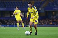 AFC Wimbledon defender Tyler Garratt (12) dribbling during the EFL Trophy match between U21 Chelsea and AFC Wimbledon at Stamford Bridge, London, England on 4 December 2018.
