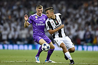 Paulo Dybala of Juventus and Toni Kroos of Real Madrid during the UEFA Champions League Final match between Real Madrid and Juventus at the National Stadium of Wales, Cardiff, Wales on 3 June 2017. Photo by Giuseppe Maffia.<br /> <br /> Giuseppe Maffia/UK Sports Pics Ltd/Alterphotos