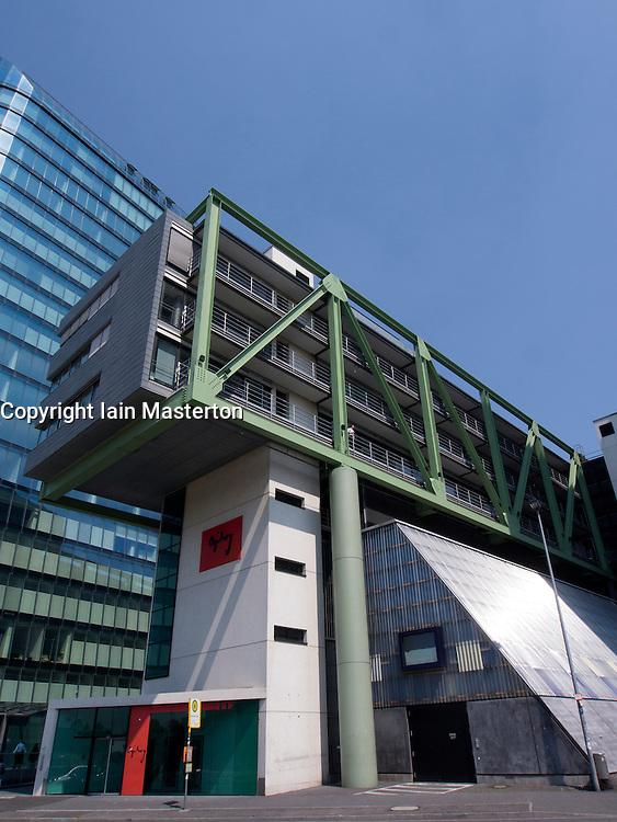Modern architecture of Ogilvy advertising agency at Medienhafen or Media Harbour property development in Düsseldorf Germany