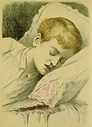 Boy with Haemophilia, an inherited blood disorder in which the clotting factor is absent.  The disorder is passed down by the mother who is not affected but whose male offspring have a fifty per cent chance of inheriting Haemophilia.   From Jules Rengade