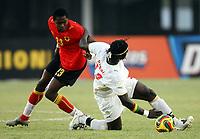 Fotball<br /> Afrika mesterskapet<br /> Foto: imago/Digitalsport<br /> NORWAY ONLY<br /> <br /> 27.01.<br /> Manucho (Angola, li.) gegen Mustapha Bayal Sall (Senegal) <br /> <br /> Senegal - Angola 1:3