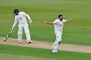 Ravi Bopara of Essex unsucessfull appeals for an lbw against Liam Dawson of Hampshire during the first day of the Specsavers County Champ Div 1 match between Hampshire County Cricket Club and Essex County Cricket Club at the Ageas Bowl, Southampton, United Kingdom on 5 April 2019.