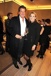 DAVID & GRANIA STEPHENSON at a party at Roger Vivier, Sloane Street, London on 2nd December 2008.