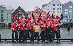 12.03.2020, Granasen, Trondheim, NOR, FIS Weltcup Skisprung, Raw Air, Trondheim, Herren, im Bild Gesamtweltcupsieger Stefan Kraft (AUT) mit Team // Overall Worldcup Winner Stefan Kraft (AUT) with the Tean during men's 3rd Stage of the Raw Air Series of FIS Ski Jumping World Cup at the Granasen in Trondheim, Norway on 2020/03/12. EXPA Pictures © 2020, PhotoCredit: EXPA/ JFK