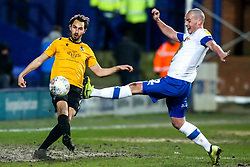 Edward Upson of Bristol Rovers takes on Luke McCullough of Tranmere Rovers - Mandatory by-line: Robbie Stephenson/JMP - 11/02/2020 - FOOTBALL - Prenton Park - Birkenhead, England - Tranmere Rovers v Bristol Rovers - Sky Bet League One