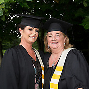 """25.08.2016          <br />  Faculty of Business, Kemmy Business School graduations at the University of Limerick today. <br /> <br /> Attending the conferring were Diploma in Management graduates, Caroline Rafter, Monaleen Height, Limerick and Ann-Marie Kennedy, Efin Co. Limerick. Picture: Alan Place.<br /> <br /> <br /> As the University of Limerick commences four days of conferring ceremonies which will see 2568 students graduate, including 50 PhD graduates, UL President, Professor Don Barry highlighted the continued demand for UL graduates by employers; """"Traditionally UL's Graduate Employment figures trend well above the national average. Despite the challenging environment, UL's graduate employment rate for 2015 primary degree-holders is now 14% higher than the HEA's most recently-available national average figure which is 58% for 2014"""". The survey of UL's 2015 graduates showed that 92% are either employed or pursuing further study."""" Picture: Alan Place"""