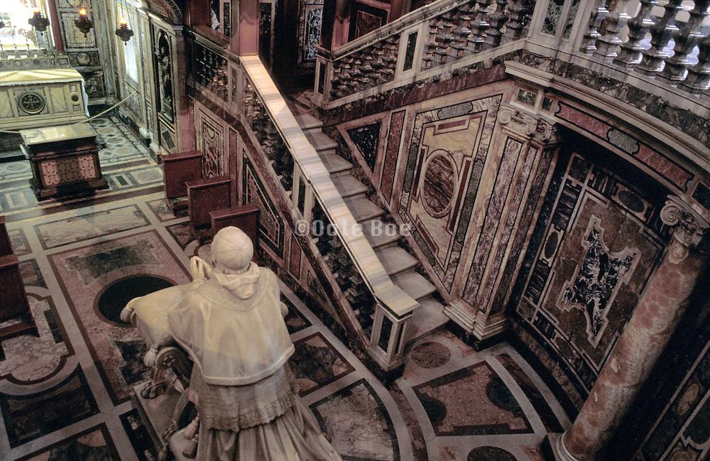 interior of church chamber Italy