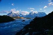 Lago (Lake) Pehoe, Parque NacionalTorres de Paine, Patagonia, Chile<br />