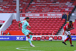 Korey Smith of Swansea City shoots from outside the penalty area - Mandatory by-line: Nick Browning/JMP - 29/11/2020 - FOOTBALL - The City Ground - Nottingham, England - Nottingham Forest v Swansea City - Sky Bet Championship