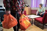 Joyce, a retired community mid-wife, now volunteers giving out food parcels to those who need them. Some years ago they would only be giving out a few hundred parcels per month, nowadays its nearer a thousand (984 in November). The Conservative government's policy of austerity together with the new 'Universal Credit' system which replaced six other benefits, makes millions of people poorer, many hundreds of thousands on the poverty line or below. Whilst people overall voted strongly against Brexit in Scotland, in other parts of the country, poorer constituencies voted largely for Brexit, in a vote against the City of London.<br /><br />Kirkcaldy is one of the poorest areas in Scotland with staggeringly high numbers of child poverty. Many disadvantaged families, and vulnerable people, and over a thousand children are surviving below the breadline in Kirkaldy East, that is 40%. Voluntary organisations and foodbanks give over a thousand food parcels a month, several times more than a few years ago. The Conservative government's policy of austerity together with the new 'Universal Credit' system which replaced six other benefits, makes millions of people poorer, many hundreds of thousands on the poverty line or below. Whilst people overall voted strongly against Brexit in Scotland, in other parts of the country, poorer constituencies voted largely for Brexit, in a vote against the City of London.