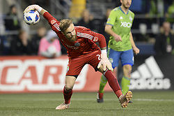 November 8, 2018 - Seattle, Washington, U.S - The Sounders STEFAN FREI in action as the Portland Timbers visit the Seattle Sounders in a MLS Western Conference semi-final match at Century Link Field in Seattle, WA. (Credit Image: © Jeff Halstead/ZUMA Wire)