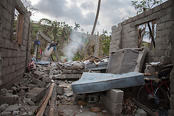 October 9, 2016 - Les Cayes, Haiti - A damaged House in Tapyon near Les Cayes, Haiti, on October 9, 2016.The number of people killed in Haiti by Hurricane Matthew hit 1,000 people on Sunday, as the country battled deaths from cholera and some authorities had to start burying the dead in mass graves. (Credit Image: © Bahare Khodabande/NurPhoto via ZUMA Press)