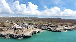 The damaged beachfront Dan's Creek hotel in Port Salut, Haiti, on October 11, 2016. Photo by Patrick Farrell/Miami Herald/TNS/ABACAPRESS.COM