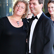 NLD/Amsterdam/20110527 - 40ste verjaardag Prinses Maxima, persoonlijk chauffeur van Prinses Maxima Arnold Korving en partner