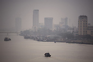 Cityscape of Danang with Han river in foreground. Vietnam, Asia