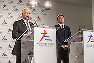 ASEM, Prime minister of Malaysia,Mohammad Najib Razak and Matteo Renzi