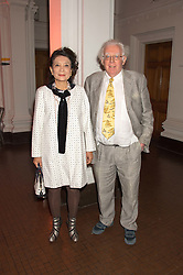 JON HALLIDAY and writer JUNG CHANG at a dinner to celebrate Sir David Tang's 20 year patronage of the Royal Academy of Arts and the start of building work on the Burlington Gardens wing of the Royal Academy held at 6 Burlington Gardens, London on 26th October 2015.