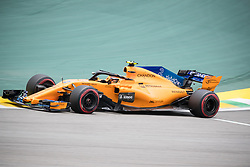 November 10, 2018 - Sao Paulo, Sao Paulo, Brazil - STOFFEL VANDOORNE, of McLaren Honda F1 Team, during the free practice session for the Formula One Grand Prix of Brazil at Interlagos circuit, in Sao Paulo, Brazil. The grand prix will be celebrated next Sunday, November 11. (Credit Image: © Paulo LopesZUMA Wire)