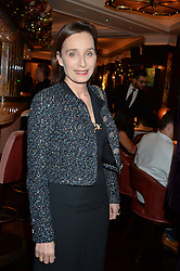 LONDON, ENGLAND 7 DECEMBER 2016: Kristin Scott Thomas at an intimate performance by kylie Minogue at The Ivy, 5 West Sreet, London, England. 7 December 2016.