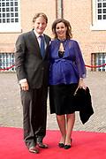Prinses Leonore dochter , de jongste dochter van Prins Constantijn en  Prinses Laurentien is zondagochtend 8 oktober 2006 in  de kapel van Paleis Het Loo  in Apeldoorn gedoopt. / Princes Leonore, the jongest daughter of Prince Constantijn en Princes Laurentien, is baptist in Palace Het Loo in Apeldoorn.<br /> <br /> Op de foto / On the photo:  Prinses Anita (zwanger) en prins Pieter Christiaan / Princes Anita (pregnant) and Prince Pieter Christiaan