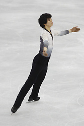 February 17, 2018 - Pyeongchang, KOREA - Junhwan Cha of Korea competing in the men's figure skating free skate program during the Pyeongchang 2018 Olympic Winter Games at Gangneung Ice Arena. (Credit Image: © David McIntyre via ZUMA Wire)