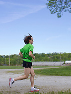 Augusta, New Jersey - A runner during the 3 Days at the Fair races at Sussex County Fairgrounds on May 11, 2012.
