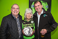 Glevum security and Jilly Cooper during the Vanarama National League match between Forest Green Rovers and Chester FC at the New Lawn, Forest Green, United Kingdom on 14 April 2017. Photo by Shane Healey.