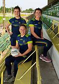 Monica McGuirk, Orla and Kate Byrne-Meath Senior Footballers