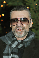 File photo dated 23/12/11 of George Michael makes a statement to the media outside his home in Highgate, north London, as the pop superstar has died peacefully at home, his publicist said.