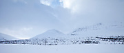 Arctic alps in Ovre Dividal National Park in the Arctic Circle region of Tromso, Northern Norway