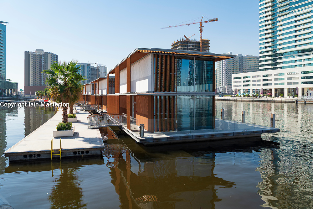 new floating villas on The Creek in Business Bay in Dubai, United Arab Emirates