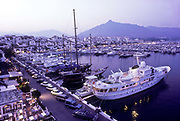 The marine harbour of Puerto Banús, Marbella, Spain