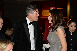 EDWARD TAYLOR and GENEVIEVE GAUNT  at the 26th Cartier Racing Awards held at The Dorchester, Park Lane, London on 8th November 2016.