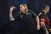Ryan Searle during his match with Michael Smith during the World Darts Championships 2018 at Alexandra Palace, London, United Kingdom on 28 December 2018.