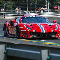 #82, Ferrari 488 GTE Evo, Risi Competizione, drivers: O. Pla, S. Bourdais, J. Gounon, GET Pro, Le Mans 24H 2020 on 19/09/2020