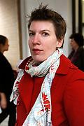 """Prinses Maxima is aanwezig bij de opening van de internationale kunstmanifestatie 'Ja Natuurlijk - hoe kunst de wereld redt' in en om het Gemeentemuseum, het GEM en het Fotomuseum in Den Haag. <br /> <br /> Princess Maxima attends the opening of the international art 'Yes of course - how art saves the world """"and to the Municipal Museum, the GEM and the Photography Museum in The Hague.<br /> <br /> Op de foto / On the photo:  Paulien Cornelisse"""