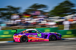 March 14, 2019 - Sebring, Etats Unis - 33 MERCEDES AMG TEAM RILEY MOTORSPORTS (USA) MERCEDES AMG GT3 GTD BEN KEATING (USA) JEROEN BLEEKEMOLEN (NLD) FELIPE FRAGA  (Credit Image: © Panoramic via ZUMA Press)