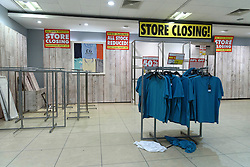 © Licensed to London News Pictures. 13/08/2016. Empty shop floor display as British Homes Stores Oxford Street Flagship store closes on its last day of trading. London, UK. Photo credit: Ray Tang/LNP