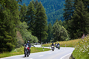 Motorcycling in the Swiss National Park, Switzerland