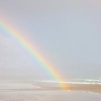 Rainbow over Reenroe Beach nearby Ballinskelligs, County Kerry, Ireland / rb020