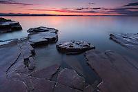 Lake Champlain twilight, Burlington, Vermont